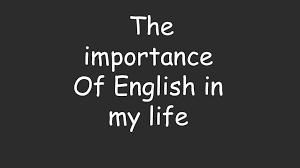 english is a part of my life
