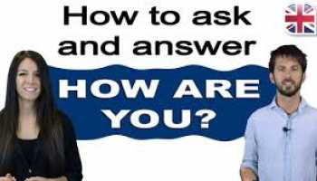the way to answer how are you