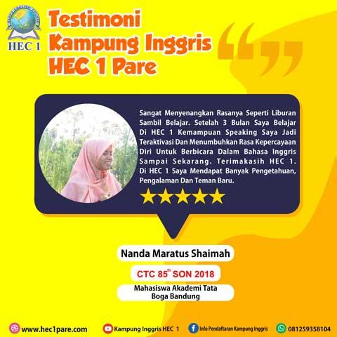 Nanda Maratus Shaimah - CTC 85 SON 2018 - Mahasiswi Akadami Tata Boga Bandung
