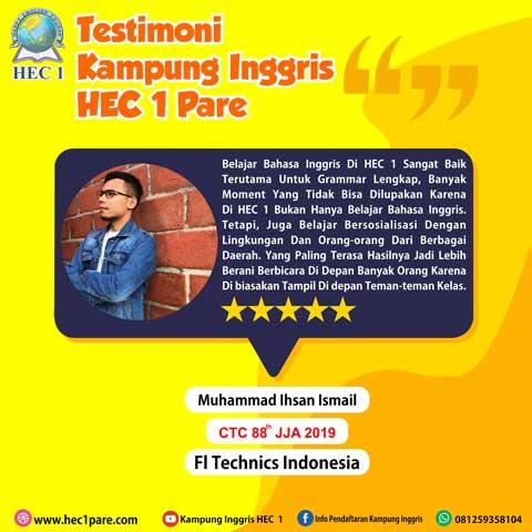 Muhammad Ihsan Ismail - CTC 88 JJA 2019 - FI Technics Indonesia