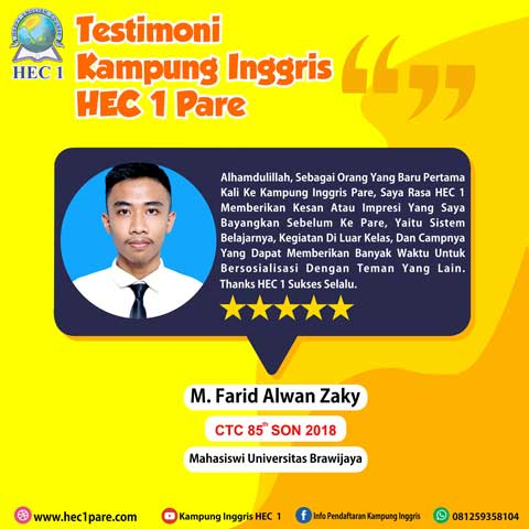M. Farid Alwan Zaky - CTC 85 SON 2018 - Mahasiswa Universitas Brawijaya