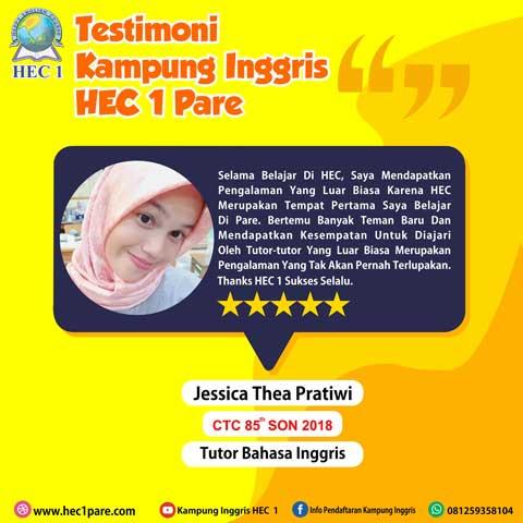 Jessica Thea Pratiwi - CTC 85 SON 2018 - Tutor bahasa Inggris